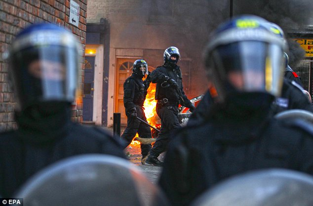 Police are said to have complained they were ordered to go 'soft' on rioters