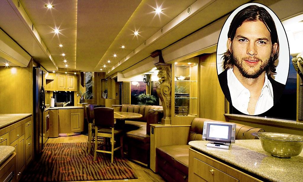 Ashton Kutchers villa on wheels Inside the actors