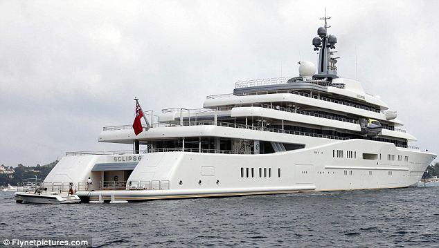 Roman Abramovichs 1bn Yacht Cant Dock Because Saudi