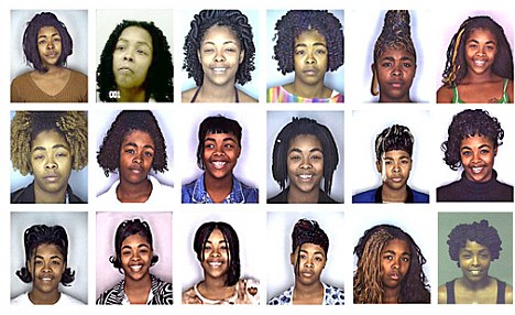 Smile: The 20 mugshots of Khia Finch/Chambers showcasing her many different hairstyles