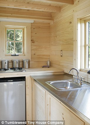 Cute: For those who are too broke to get on the housing ladder an American firm Tumbleweed Tiny House Company is here to help with homes that start at the bargain price of $99