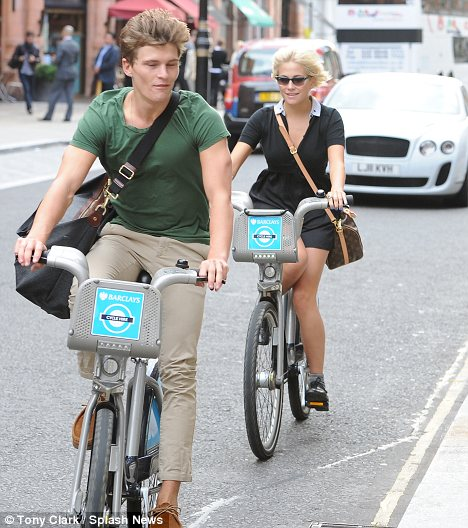 Side saddle: It appeared that Pixie was trying to ride with her leg across the bike as the pair sped along