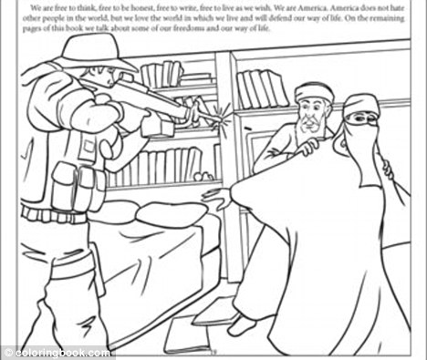 'Disgusting': Children's colouring book depicting 9/11