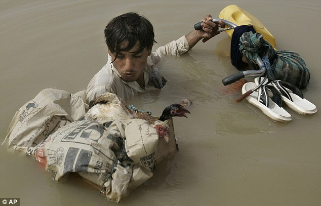 Devastation: The Pakistan flood brought a death toll of around 2,000, though it directly affected around 20million people with the destruction of property and livelihood