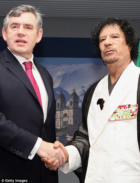 Gordon Brown and Gaddafi