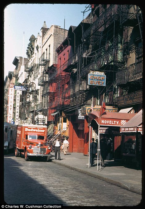 Street in New York's Chinatown Oct. 7, 1942