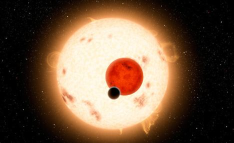 Extraordinary: An artist's illustration of Kepler-16b, the first planet known to orbit two stars