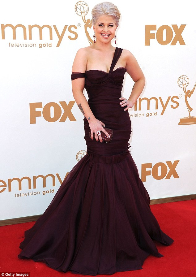 Elegant: TV personality Kelly Osbourne was among the first to arrive at the 63rd Annual Primetime Emmy Awards held at Nokia Theatre Los Angeles today