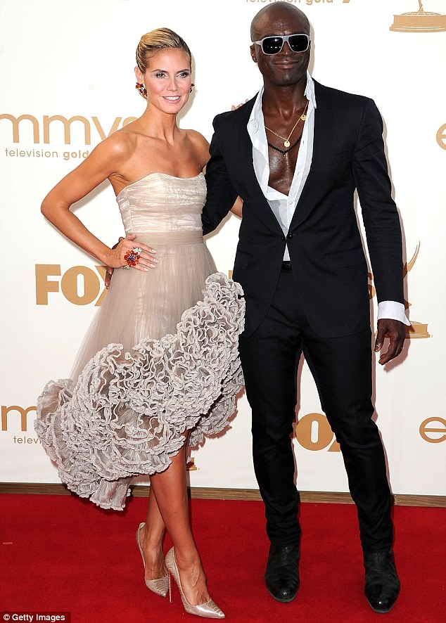 What a frill: Heidi Klum and her husband seal