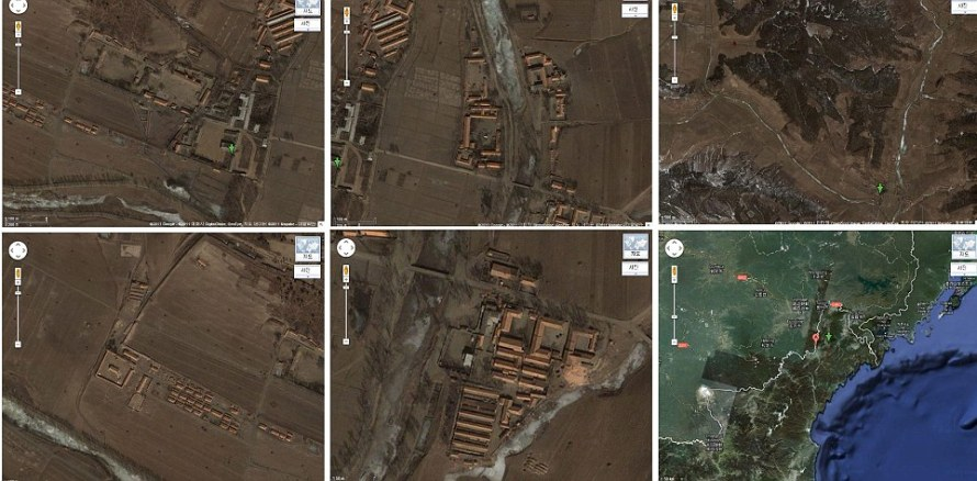 Secret: Photos of the camp, only know as 22, were taken after finding their locations on Google
