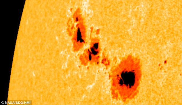 Hot stuff: La mancha solar gigante de 1302 ha sido desatar enormes erupciones solares