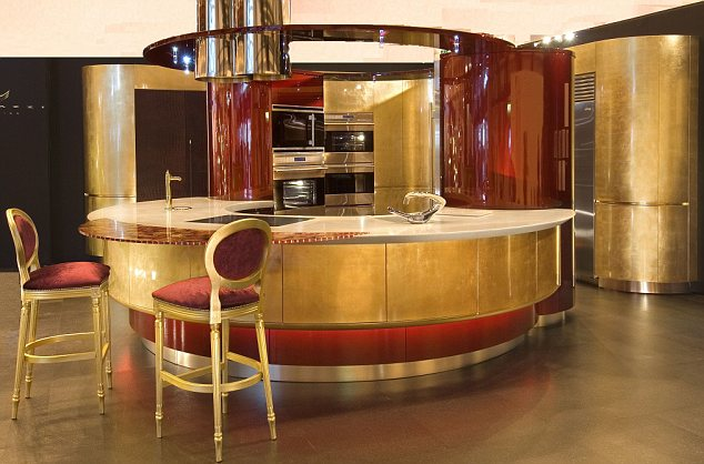 gold kitchen lowes refacing cabinets yours for 300 000 the leaf that costs more than expensive taste new design from london based marazzi will set you