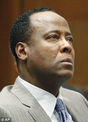 Landmark trial: Dr Conrad Murray, right, is charged with the involuntary manslaughter of Michael Jackson