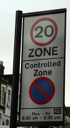 Slow zone: Conservative MEPs rubbished the suggestion promoted by the EU that all member states should agree to the 20mph limit in all residential areas