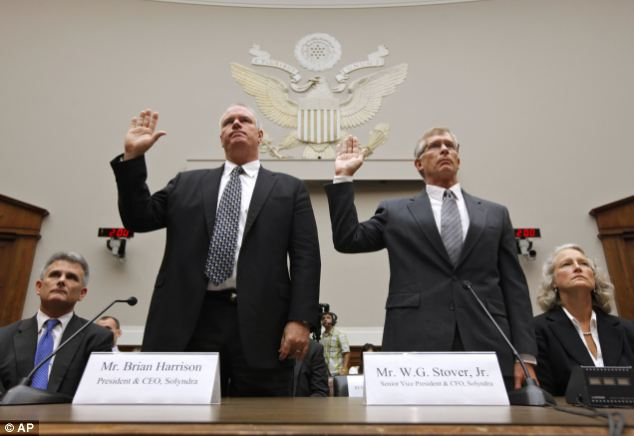 Investigation: Solyndra CEO Brian Harrison and Chief Financial Officer Bill Stover are sworn in at a House Oversight and Investigations subcommittee hearing