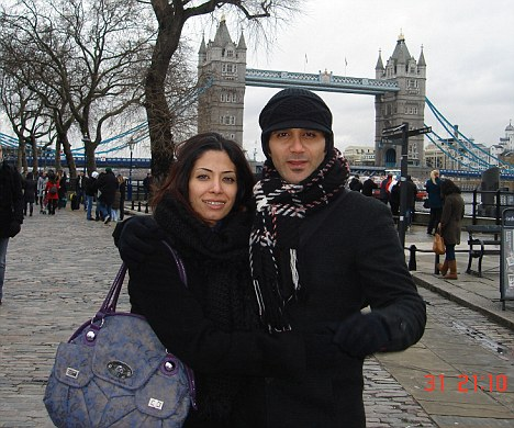 On holiday in London: Dr Fatima Haji and her husband Jalal Marzouk. She was sentenced to five years in prison for helping people injured in Bahrain protests
