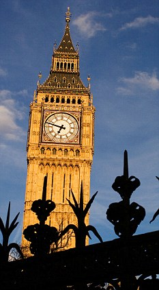 Iconic: Big Ben's tilt can now be seen by the naked eye