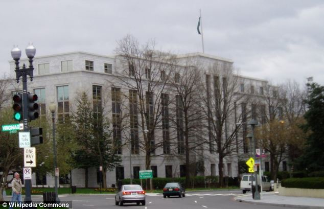The terror plot involved bombing the Saudi embassy in Washington D.C., seen here, after assassinating the ambassador
