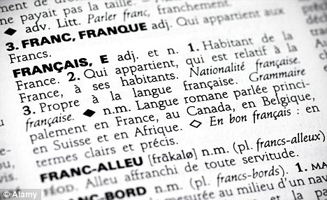 French language website creates list of English words it