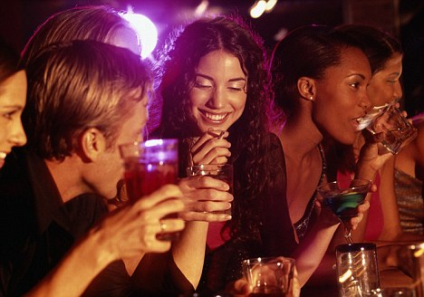 Termed as 'drunkorexia' experts have discovered that teenage girls are skipping meals so that they can consume more alcohol (posed by models)
