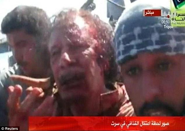 Pleading: Muammar Gaddafi was killed today