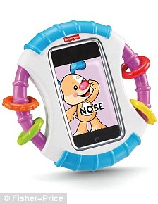 Protection: The toymaker says the case stops phones being damaged by dribble or babies who are teething