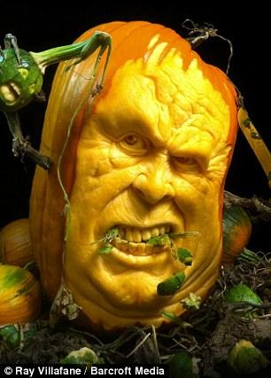 Halloween 2011 Ray Villafanes uglyfaced pumpkins you
