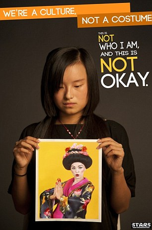 We're a culture not a costume Asian poster