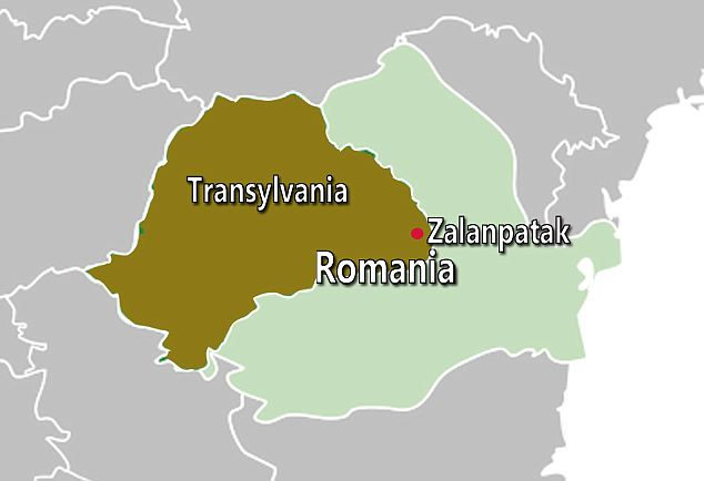 Where is the home of Count Dracula? Map showing Transylvania, home of Count Dracula.  |  Image source and courtesy - dailymail.co.uk  | Click for larger image.