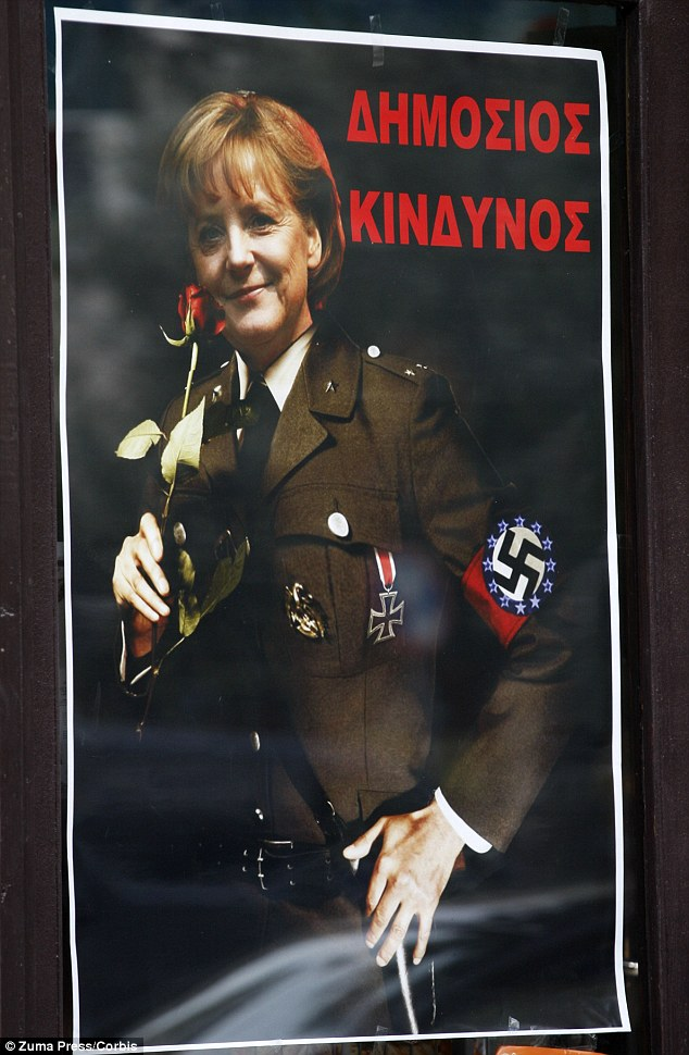 Angela Merkel as the Greeks see her