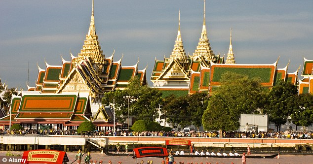 Royal home: The Grand Palace in Bangkok where the Thai kings once lived