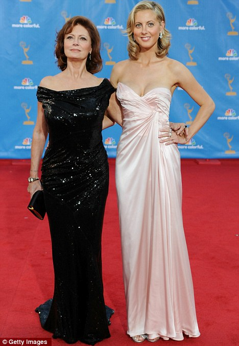 Chip off the old block: Susan and Eva at the Emmy Awards last year