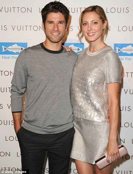 Love and marriage: Eva Amurri and Kyle Martino, pictured last year in LA, married today in Charleston, Carolina