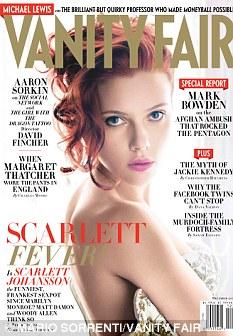 Cover girl: Scarlett Johansson poses for the December issue of Vanity Fair