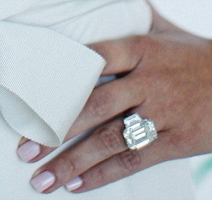 'A gift': Kim's huge engagement ring