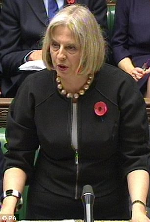 Admission: Theresa May has said she ordered the watering down of the passport rules in July - without telling Parliament