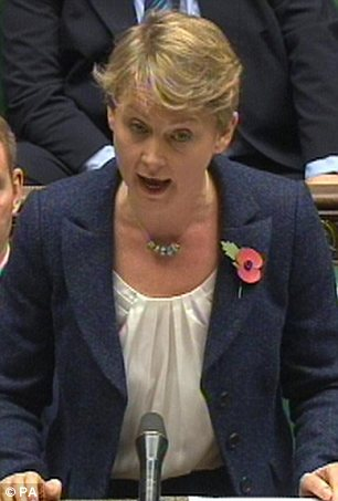 Attack: Labour's Yvette Cooper accused the Home Secretary of 'doing nothing to find out who has entered the country'