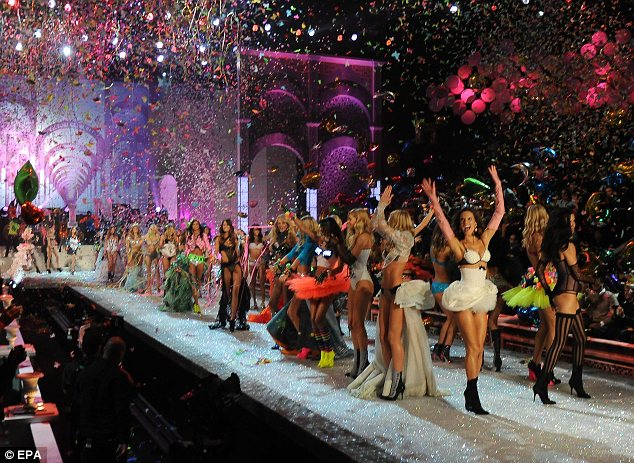 What a lineup: The angels got the crowd into the party mood as they took to the stage en mass