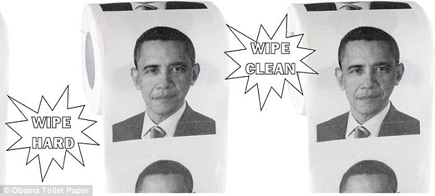 Gag: Toilet paper with a portrait of President Barack Obama on every square is being offered via online retailers for as much as $10.00 per roll
