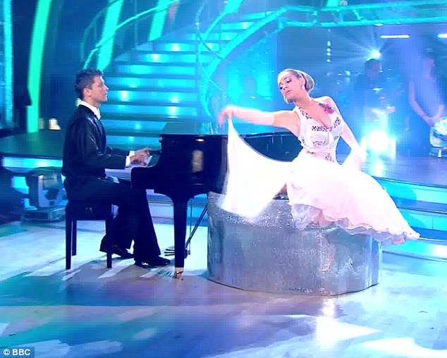 Elegant: Despite not coming top of again, Chelsee Healy scored an impressive 36 for her Foxtrot with Pasha Kovalev