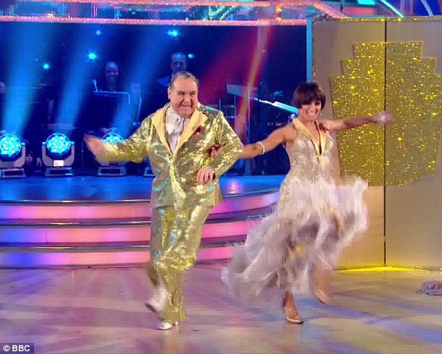 Camp extravaganza: Russel Grant and Flavia Cacace put on a glitzy performance that will no doubt save them for another week