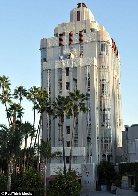 Hot property: Jen and Justin are staying in a plush suite in the Sunset Tower Hotel