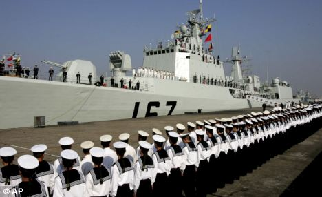 Expansion: The Chinese navy is growing fast, acquiring sophisticated missile systems