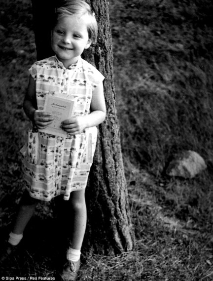 Always No. 1: Angela Merkel aged three, before her rise to power as one of the most influential figures in world politics