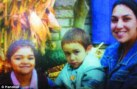 Tragic: Christopher Valdez (centre) with his sister Christine (right) and his mother Crystall (left) was beaten to death on his 4th birthday near Chicago