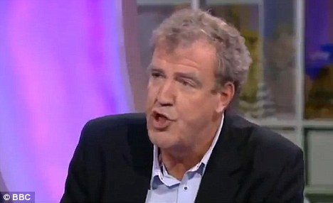 Controversial: Jeremy Clarkson said he wanted to see strikers shot when he appeared on the One Show last night