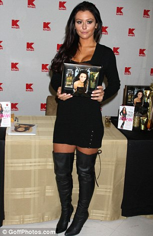 'Buy my wares': JWoww offers her perfume with a shimmering body lotion