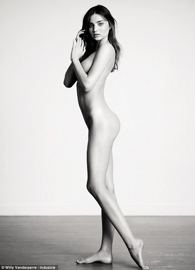 Yummy mummy: Miranda Kerr poses nude in a racy new photoshoot for Industrie magazine