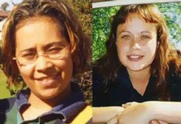Cousins: Murdered Kristy Scholes (left) and missing Lateesha Nolan (right), were both 24 and both related to Naden who is wanted in connection with their cases