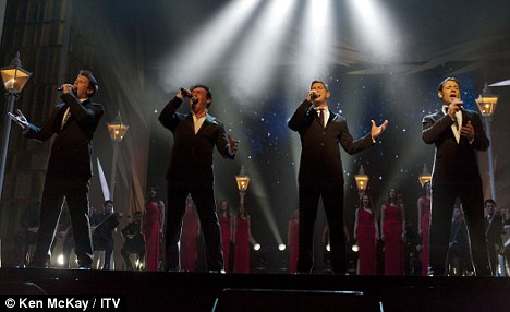 Proud: Now that they have a spectacular set of songs they feel takes them to a new level, Il Divo want to shout about it